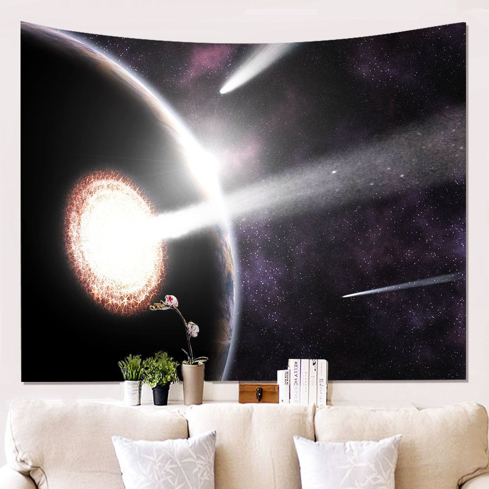Art Psychedelic Planet Tapestry Wall Hanging Home Decor Bedspread Throw Tapestry