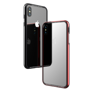 Image 3 - Luxury Thin Transparent Glass Case For iPhone XS XS Max Shockproof TPU Aluminum Metal Full Protection Cover Case For iPhone XR X