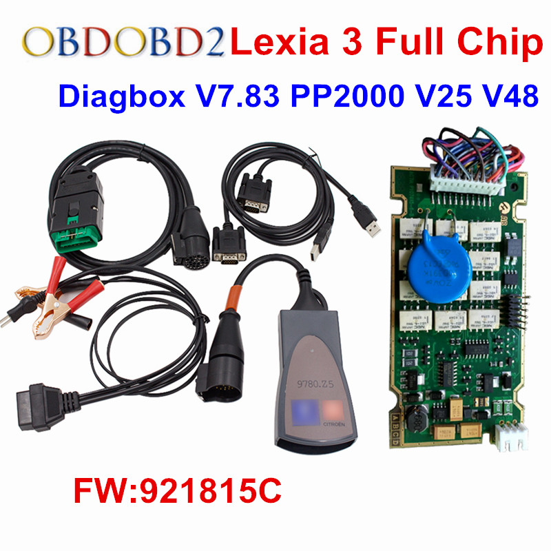 Lexia 3 Full Chip Newest Diagbox V7.83 Lexia3 Firmware 921815C OBD2 Car Diagnostic Tool Lexia3 PP2000 V48/V25 With Full Chip lexia 3 full chip newest diagbox v7 83 lexia3 firmware 921815c obd2 car diagnostic tool lexia3 pp2000 v48 v25 with full chip
