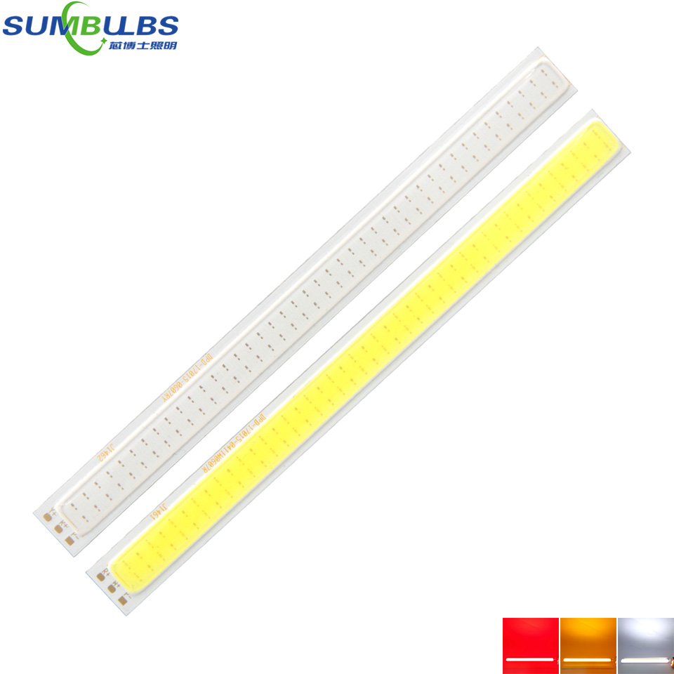 Sumbulbs Double Color COB LED Light Source 2W White Red Orange Chip On Board DC12V 170*15MM COB Strip Lamp Two Color On One Bulb [sumbulbs] 200x10mm 0422 10w led light cob strip lamp dc 12 14v 1000lm green yellow red blue warm white pure white drl car light