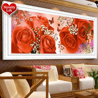 5D DIY Diamond Embroidery Flower FLORAL TIMES Round Pattern Rhinestone Sets Diamond Piainting Ccross Stitch Wall