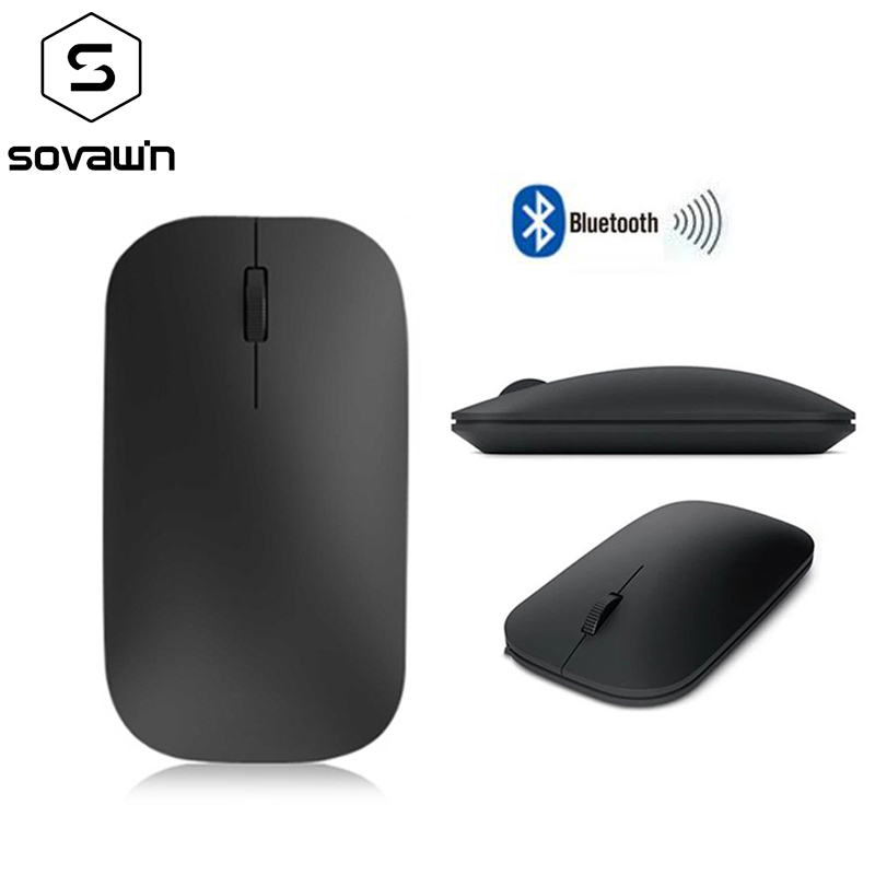Sovawin Bluetooth Mouse 3.0 Wireless Rechargeable 2.4Ghz Mini Ultra Thin Silent Mouse USB Optical 1600DPI For Computer Android