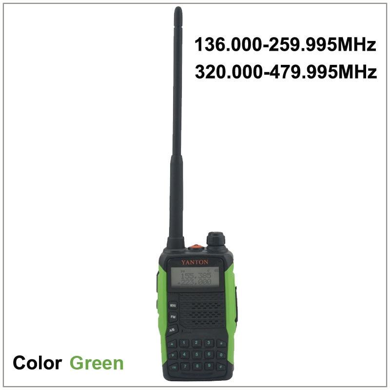 Dual band fm portatile a due vie radio yanton gt-tx e rx sia da 136.000-259.995 mhz & 320.000-479.995 mhz colore verdeDual band fm portatile a due vie radio yanton gt-tx e rx sia da 136.000-259.995 mhz & 320.000-479.995 mhz colore verde