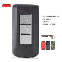 Keyecu Smart Remote Key Fob 2 Taste 433Mhz PCF7952 ID46 für Mitsubishi Lancer Outlander ASX FCC: G8D 644M KEY E|Autoschlüssel|Kraftfahrzeuge und Motorräder -