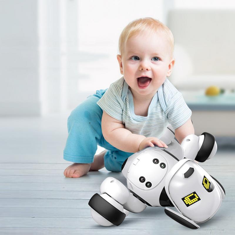 DIMEI cadeau d'anniversaire RC Zoomer chien 2.4G télécommande sans fil chien intelligent électronique Pet éducatif enfants jouet Robot jouets - 4
