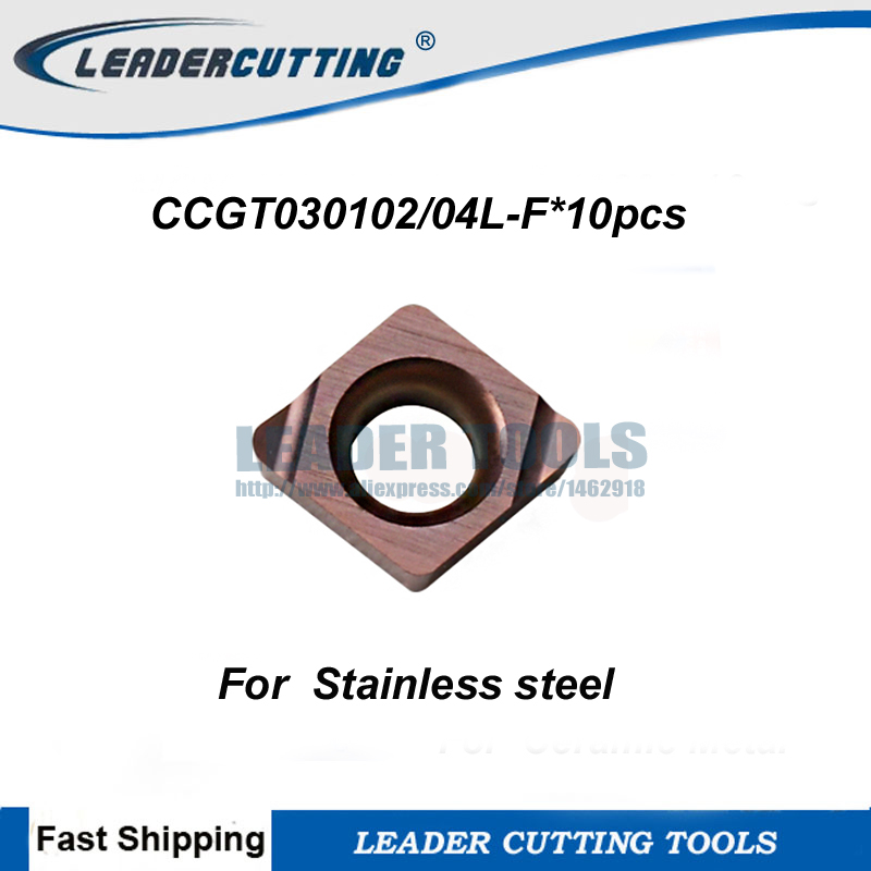 CCGT030102L F CCGT030104L F 10pcs Turning carbide inserts Precision level small size boring bar Turing Blade