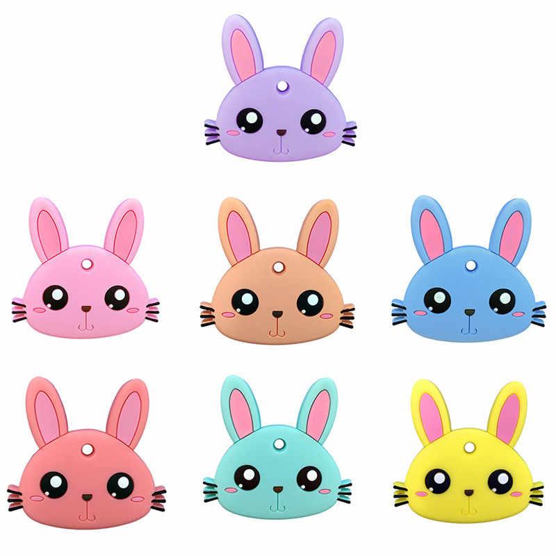 Детские силиконовые гелевые Прорезыватели детские силиконовые материалы Грызунок «кролик»