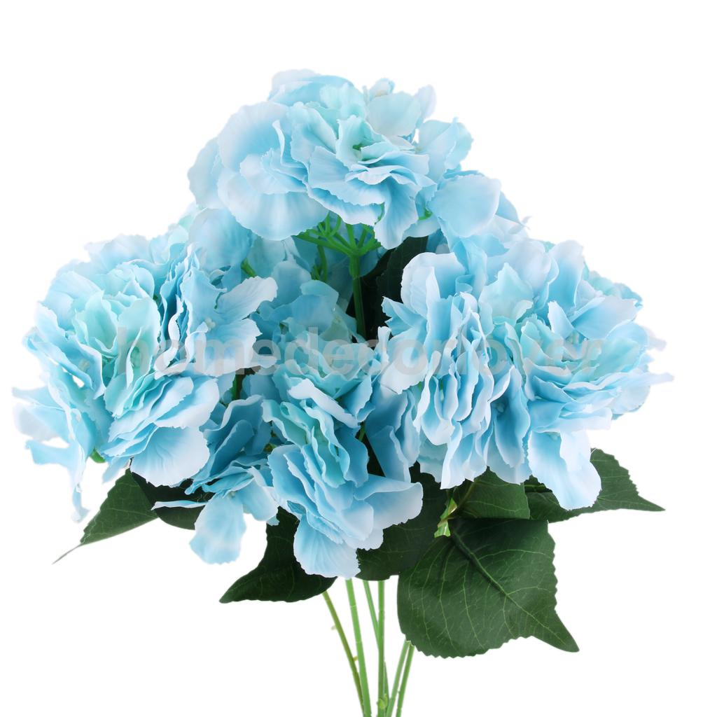 Artificial Silk Flower Hydrangea Bouquet Wedding Party Decoration