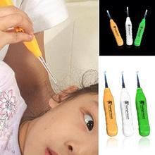 Детский Безопасный светодиодный фонарик ручка для здоровья очиститель ушной серы удалитель ушной серы Пинцет ушной выбор кюретка для очистки ушные палочки