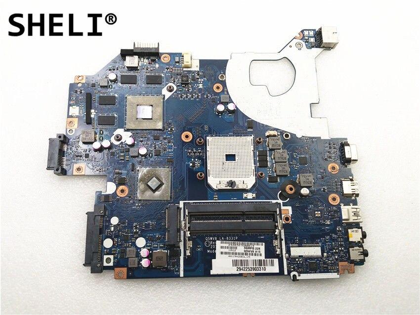 SHELI For Acer V3-551 V3-551G Motherboard with HD7520 video card LA-8331P