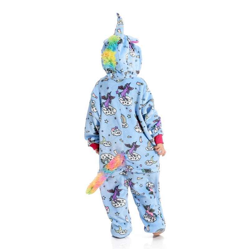 ... Дети костюм единорога мультфильм косплей фланель дети мальчики девочки  пижамы комбинезоны детская одежда для сна для ... 89316f55776d5