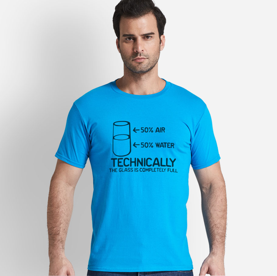 8f4814075 Technically The Glass Is Completely Science Sarcasm Funny Cool Humor T Shirt-in  T-Shirts from Men's Clothing on Aliexpress.com | Alibaba Group