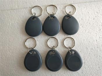 100Pcs EM4305 Copy Rewritable Writable Rewrite RFID Tag Key Ring Card 125KHZ - Gray