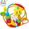 Образовательный многофункциональный colorful безопасный пластик поймать мяч новорожденный разви-бесплатная младенцы играет погремушка игрушка подарок 1 пк