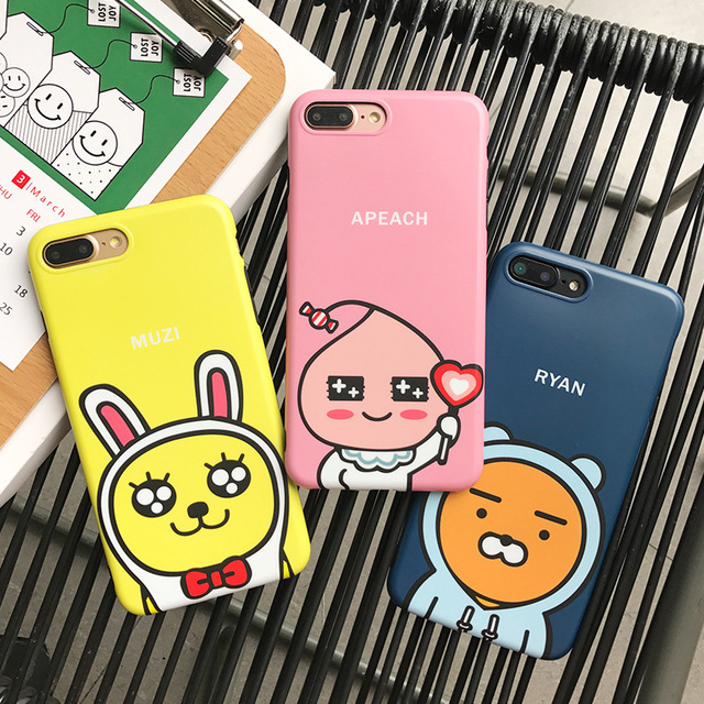 classic fit 008c5 5f61a US $3.99 |JiBan IMD Korea Cartoon KAKAO FRIENDS Cute RYAN APEACH MUZI  Colorful Cocoa TPU Phone Case Cover For iphone XS Max XR 6s 7 8 Plus-in  Fitted ...