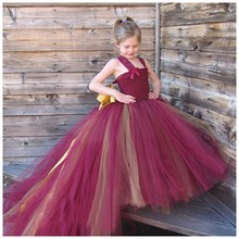 Flower Girl Long Dress Kids Clothing Party Dresses For Girl Dresses Ceremony Children's Girl's Teen Costume