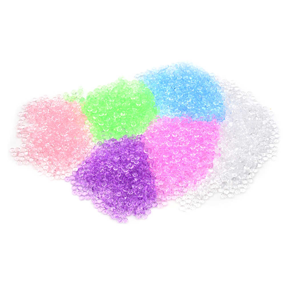 Creative 50g DIY Fluffy Slime Clay Anti Stress Toy Fishbowl Beads Plastic Acrylic Vase Fish Bowl Filler Toy Party Supply Craft
