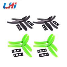 "4 pairs 5030 Props 3-Blades Propeller CW CCW for Mini 300 350mm FPV 5 Inch 5"" ABS Plastic for QAV 200 250 Quadcopter(China)"