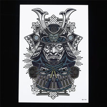 4858137bf 1pc Sexy Cool Beauty Japanese Samurai Warrior Women Men Body Art Paint  Tattoo HB194 14.8cm x 21cm Sized Temporary Tattoo Sticker