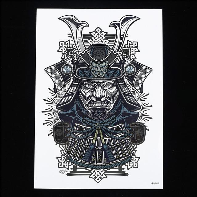 a058c3cfc 1pc Sexy Cool Beauty Japanese Samurai Warrior Women Men Body Art Paint  Tattoo HB194 14.8cm