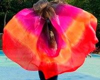 High Quality Women Seidenschleier Sexy Belly Dance Veil Scarf 100 Authentic Silk Veil Belly Dance Red