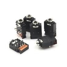 5 pièces PJ-307 3.5mm prise Audio stéréo prise 3.5 double piste casque connecteur 8 broches avec interrupteur