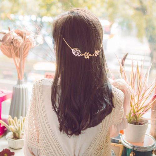 Fashion Headband Women S Hollow Leaf Peculiar Style Back Hanging Hair Clip Band Accessories 2017 Spring New Arrival In From