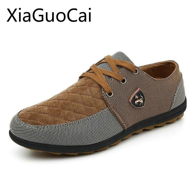 Vente chaude De Mode Hommes Plat Casual Chaussures Respirant Patchwork Lace Up Mocassins pour Hommes Chaussures de Mode Respirant Hommes