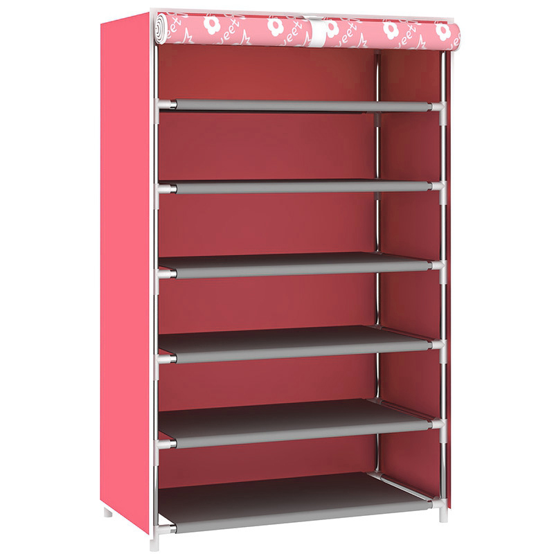 купить  Shoes Rack Dustproof Multilayer Shoe Cabinet Shelf Assembled Shoes Storage Furniture Large Capacity Home DIY Simple 6 Gird  онлайн