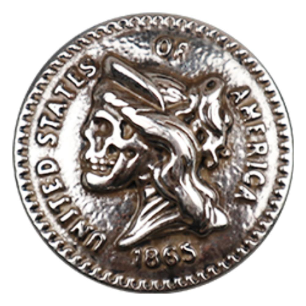 DIY Leather Craft Hardware Antique Silver  Zinc Alloy Skull Head King concho