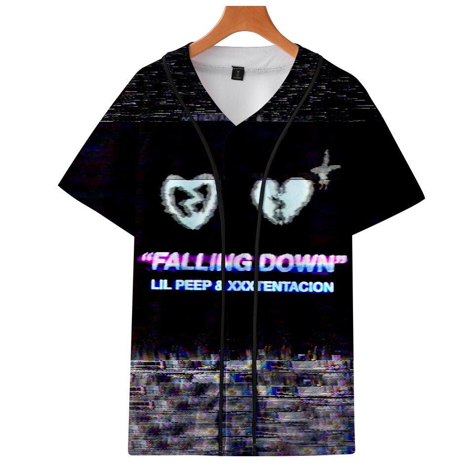 3D Xxxtentacion Lilpeep Harajuku T-shirts Women Clothes Short Sleeve Baseball TShirt Kawaii Tops