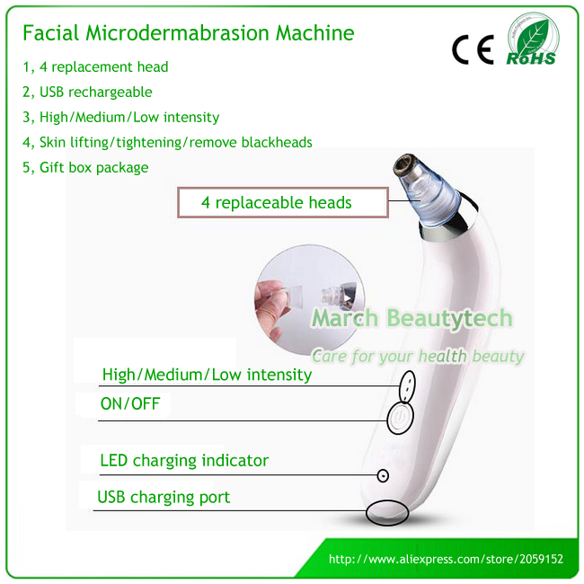 Replacement Diamond Microdermabrasion Dermabrasion Facial Skin Lifting Tightening Acne Spot and Blackhead Removal Machine professional skin diamond dermabrasion beauty machine for blackhead deadskin pigment acne marks removal lifting tightening