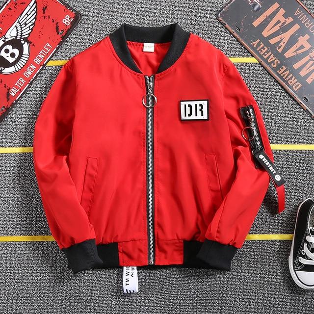 Куртка для мальчиков-подростков, весеннее пальто, красная ветровка для больших мальчиков, спортивная куртка, детские топы, школьная одежда, верхняя одежда для подростков, спортивная одежда