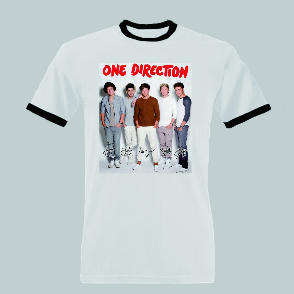 One direction shirt men on the road again tour t shirt cotton fan tee short sleeve