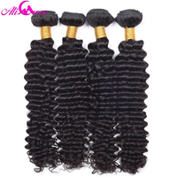 Ali Coco Deep Curly Human Hair Brazilian Hair Weave Bundles Non Remy Hair Extension 1 Piece