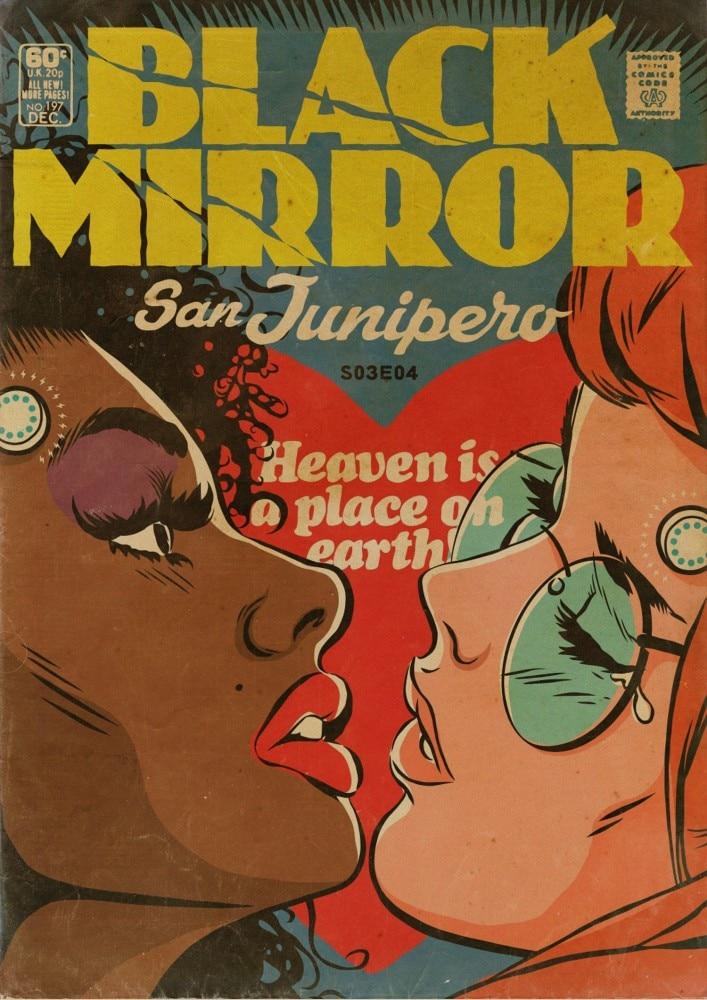 (wohnkultur)> (wand Aufkleber) Film Schwarz Spiegel Poster Home Decor Vintage Kraft Wand Aufkleber Duftendes (In) Aroma