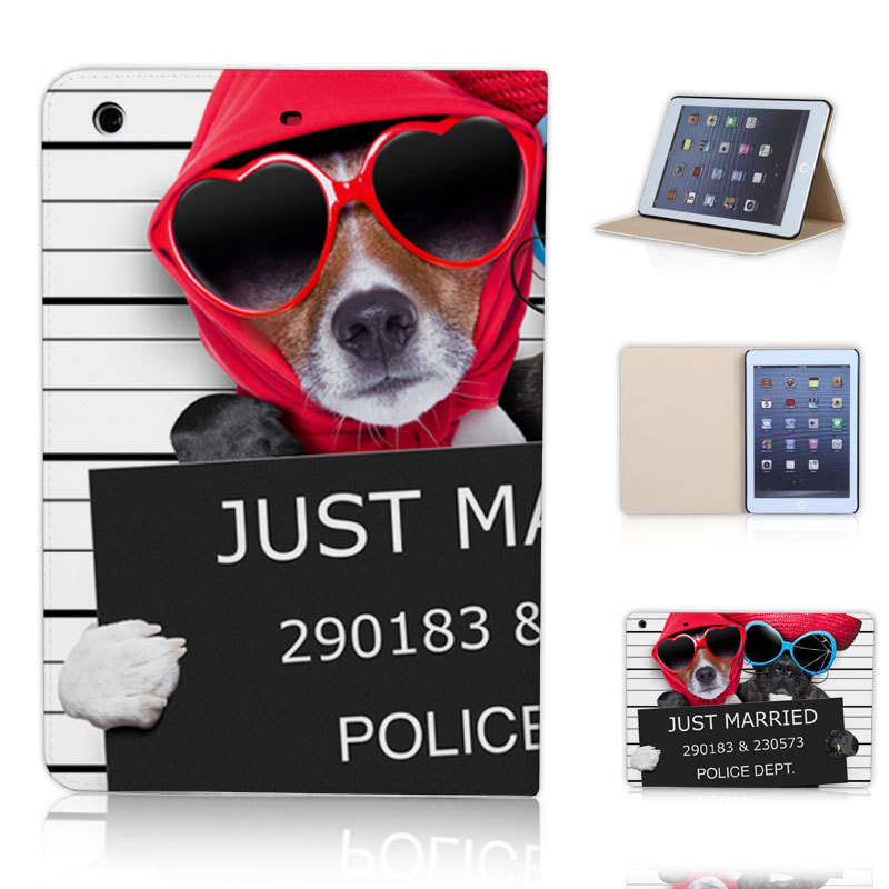 BTD JUST MARRIED Dog Super Cute Case for ipad mini 1 2 3 mini retina Cover Free Screen Protector P023-ip-mini