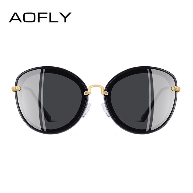 AOFLY BRAND DESIGN Fashion Ladies Cat Eye Sunglasses Metal Legs Polarized Sunglasses Women Oculos Gafas A137 2