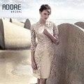 2017 Elegante Mãe Bainha Vestidos Pescoço Da Colher das Mães De Vestidos de Noiva Plus Size Mãe Da Noiva Vestido Com Livre jaqueta