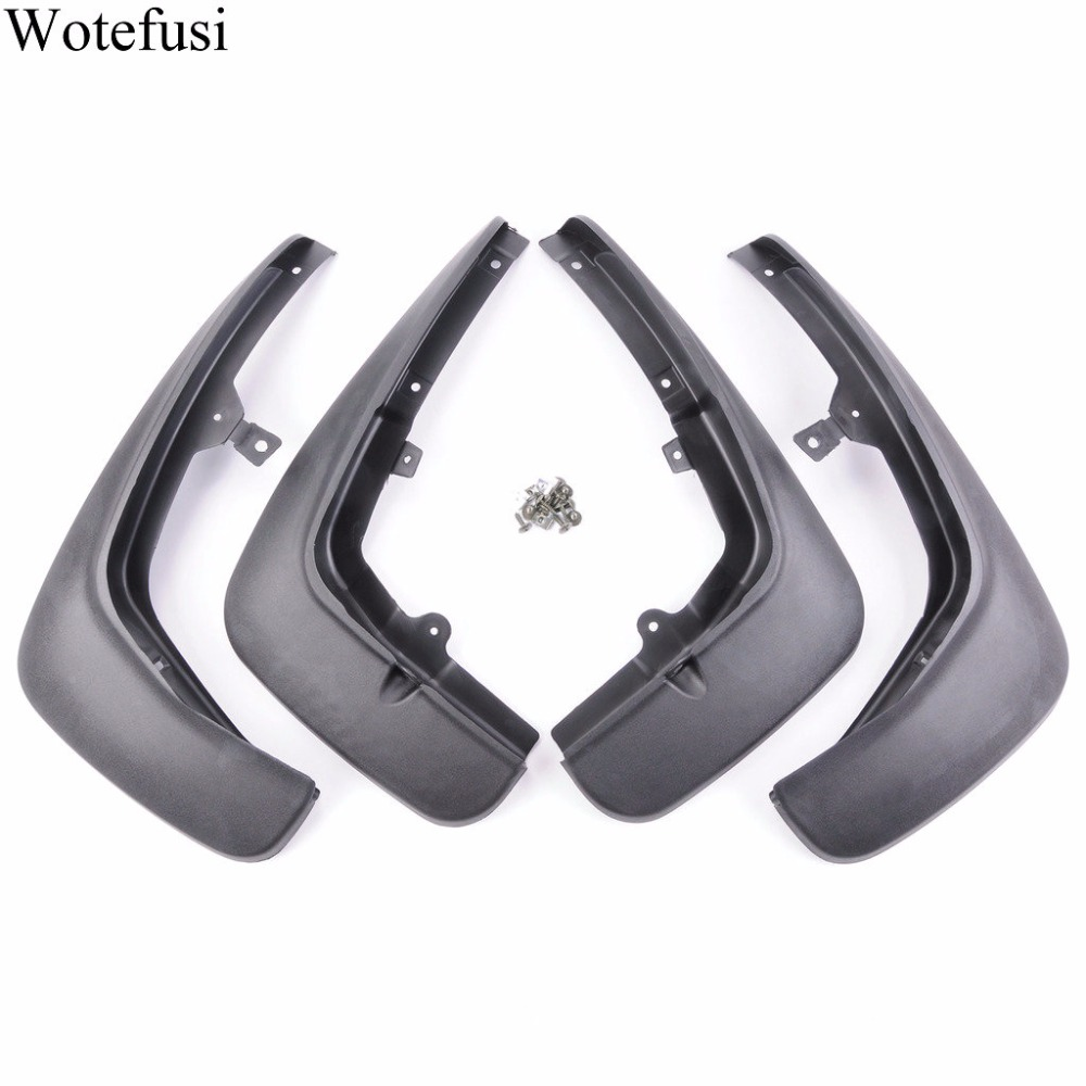 Wotefusi Black Rear Mud Flap Set For Land Rover Range Sport 2010 2011  [QP18] for land rover range rover sport stainless inside door sill scuff plate 2014 2017 4pcs silver black