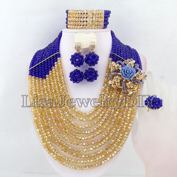 Crystal African Beads Jewelry Sets Nigerian Wedding Bridal Indian Beads Jewelry Sets HD3828Crystal African Beads Jewelry Sets Nigerian Wedding Bridal Indian Beads Jewelry Sets HD3828