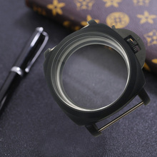 47 mm brushed black stainless steel watches case hand winding fit for EAT 6497/6498 movement все цены