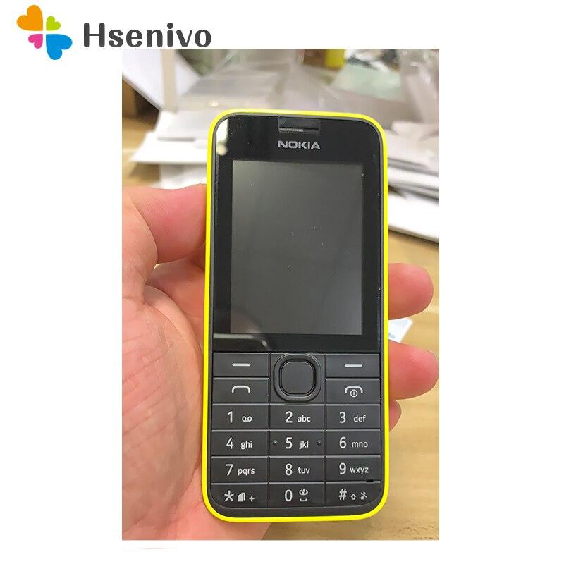 Téléphone d'origine NOKIA 208 Version Sim unique GSM bonne qualité débloqué téléphone Mobile reconditionné et clavier hébreu russe