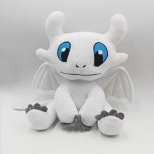 How to Train Your Dragon 3 Plush Toy Light Fury Soft White Stuffed Doll Birthday Gift 25cm