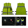 Reflective Road Safety Vest with Multi Functional Pocket for Traffic Safety and Construction Site Free Shipping