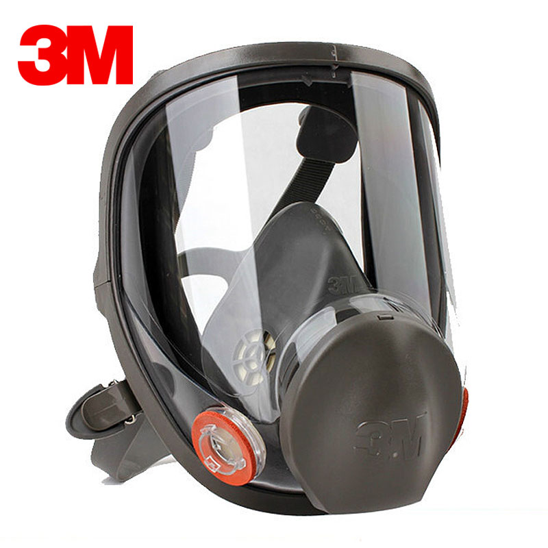 <font><b>3M</b></font> 6800 Painting Spraying Respirator Gas Mask Industry Chemcial Full Face Gas Mask size M with <font><b>6000</b></font> Series filter image
