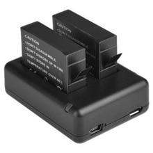 2 x ahdbt-401 401 decoded batería + cargador usb para gopro hero 4 go pro 4 nuevo