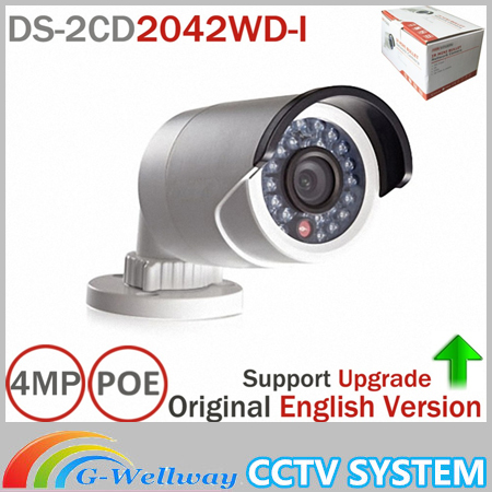 HIK IP Camera DS-2CD2042WD-I Full HD 4MP CCTV Camera High Resoultion WDR POE Bullet CCTV Camera Support Update Ezviz newest hik ds 2cd3345 i 1080p full hd 4mp multi language cctv camera poe ipc onvif ip camera replace ds 2cd2432wd i ds 2cd2345 i page 1
