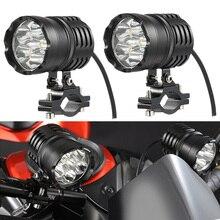 Новейшие 2 шт. 60 Вт moto rcycle фары вспомогательная лампа led moto rbike прожектор аксессуары 12 в moto точечные фары
