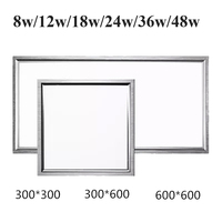 5pcs/lot Stylish Ultra Thin LED Recessed Square Panel Light 30*30cm 30*60cm 60*60cm 8w 48w indoor ceiling lights lamps CE RoHS